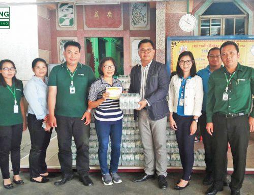 บริษัท เฮง ลิสซิ่ง จำกัด มอบน้ำดื่มเพื่อร่วมสนับสนุน งานเทศกาลกินเจ ปี2561 ที่จะจัดขึ้นในระหว่างวันที่ 9- 17 ตุลาคมนี้